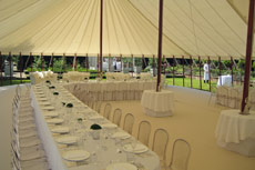 unlined traditional pole marquee for wedding or garden party